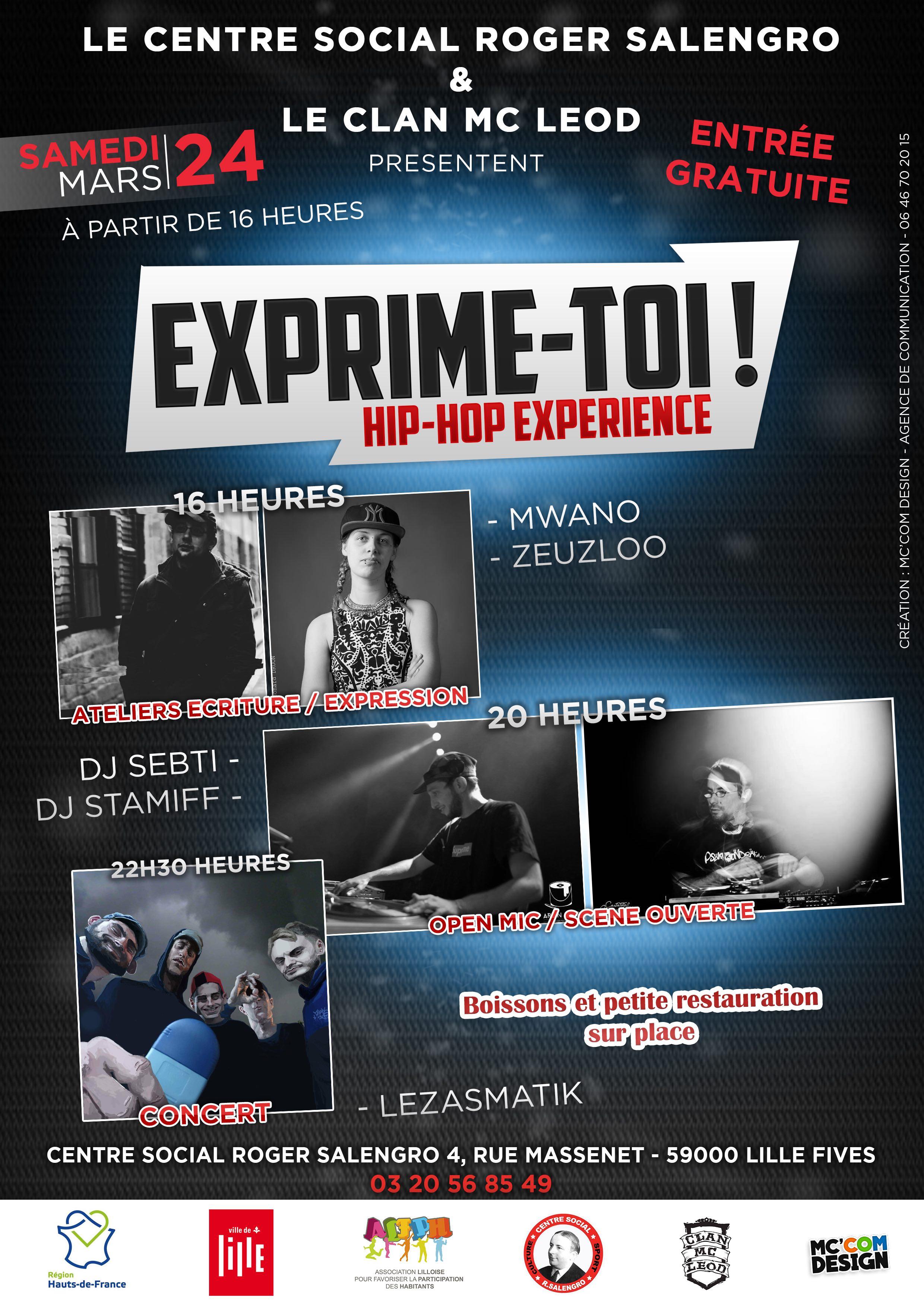 hip hop expérience clan mc leod centre social salengro